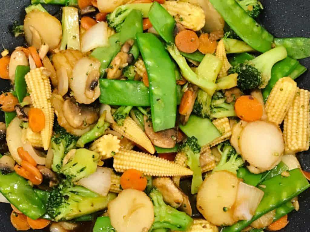 Oriental Vegetable Coconut Stir Fry